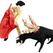 Old, Matador Doll and Bull - Great Character