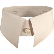 Old, Starched Collars for a Man's Collarless Shirt - Five Collars - Size 15 1/4