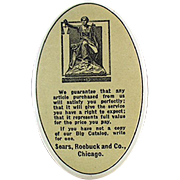 Old Celluloid Backed Sharpening Stone - Sears Advertising