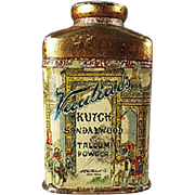 Old, Sample Talc Tin - Miniature Vantine's Kutch Sandalwood Talc
