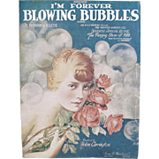 I'm Forever Blowing Bubbles - Old Sheet Music