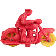 Old, Auburn Rubber Motorcycle Toy