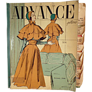 """1949 """"Advance"""" Patterns Counter Catalog with 100's of Fashions"""
