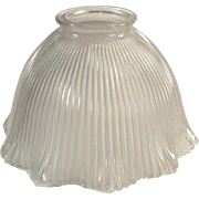 Old, Holophane Pagoda Light Fixture Shade, Frosted - Single