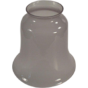 Old Light Fixture Shade - Frosted, Pale Lavender - Single