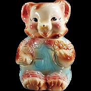 Old Cookie Jar - Baby Bear in Rompers - American Bisque