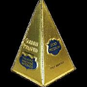 Old, Phonograph Needle Tin - Unusual, Golden Pyramid