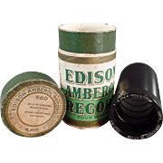 Old, Edison Amberol, Wax Cylinder, Phonograph Record - Christmas Tune