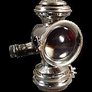 "Old Bicycle Lamp - Badger Brass ""Solar"" - Kerosene Powered"