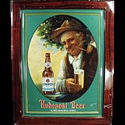Old, Self Framed Tin, Advertising Sign - Hudepohl Beer - Colorful Graphics