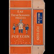 Old Popcorn Box with Children and Popcorn Vendor Graphics