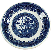 Old Butter Pat - Blue Willow Pattern