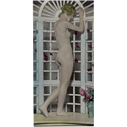 Old, Hand Tinted Photograph - Posed Nude Woman - circa 1920's