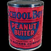 Old, Peanut Butter Tin - School Boy - Seattle / Tacoma