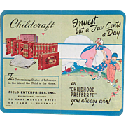 Old, Cardboard, Dime Saver - Childcraft Books Advertising