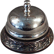 Old Counter Top Bell with Decorative Base for Hotel or General Store Counter
