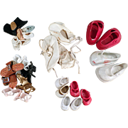 Old, Doll Shoes - Varied Assortment of Styles and Sizes