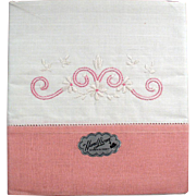 Old Pillowcases with Embroidery - Original Labels and Box
