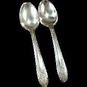 Old Oneida Silver Plate - Queen Bess Teaspoons - 2