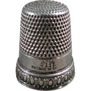 Old Sterling Thimble - Priscilla Pattern by Simons Brothers
