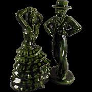 Old, Decorator Accent Figurines - Flamenco Dancers