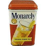 Old, Monarch Tea Tin with Nice Graphics