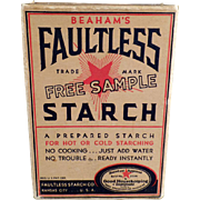 Old, Faultless Starch, Sample Box - Unopened