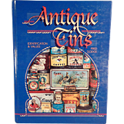 """""""Antique Tins"""" Reference Book by Fred Dodge"""