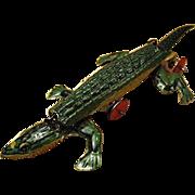 Old, German Penny Toy - Little, Tin Alligator