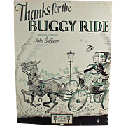 Old Sheet Music - Thanks for the Buggy Ride