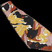 Men's Vintage Necktie - Wide, Bold Colors