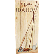 Vintage, Idaho Road Map - 1955 - Rand McNally