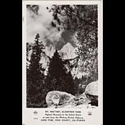 Vintage, Photograph Postcard - Mt Whitney