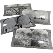 4 Vintage Stereoscopic Cards - Scenic Views including Cuba and Mexico City