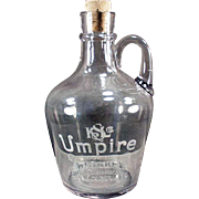 Vintage, Advertising, Back Bar Bottle/Jug - Umpire Whiskey