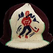 Child's, Vintage, Knit Hat with Original Eton Glacier Paper Tag