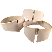 Old, Starched Collars for a Man's Collarless Shirt - Three Collars