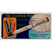 Vintage Ink Blotter - Carter Pearltex Pen Advertising