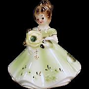 Vintage Josef Original Figure - August Birthday Girl - Peridot