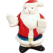 Vintage, Christmas Candle Holder - Santa Claus Figure