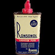 Vintage, Ronsonol Lighter Fuel Tin