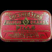 Vintage Medical Tin - Chi-Ches-Ters, Diamond Brand Pills