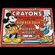 Vintage, Mickey & Donald, Crayons Tin / Box