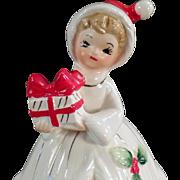 Vintage, Josef Original Christmas Girl Bell