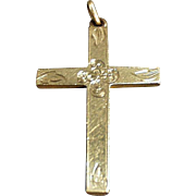Vintage, Rolled Gold Cross with Delicate Detailing