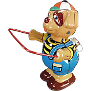 Vintage, Tin Wind Up - Skip Rope Dog - Very Colorful