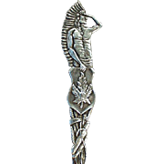 Vintage, Sterling Silver Souvenir Spoon - Canadian Indian - Great Detail
