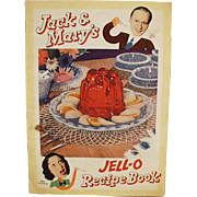 Vintage Recipe Book - Jack & Mary's Jell-O with Comic Strip Format