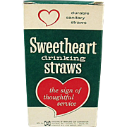 Box of Vintage, Sweetheart Drinking Straws