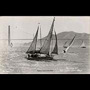 Vintage, Photograph Postcard - Sailing on San Francisco Bay